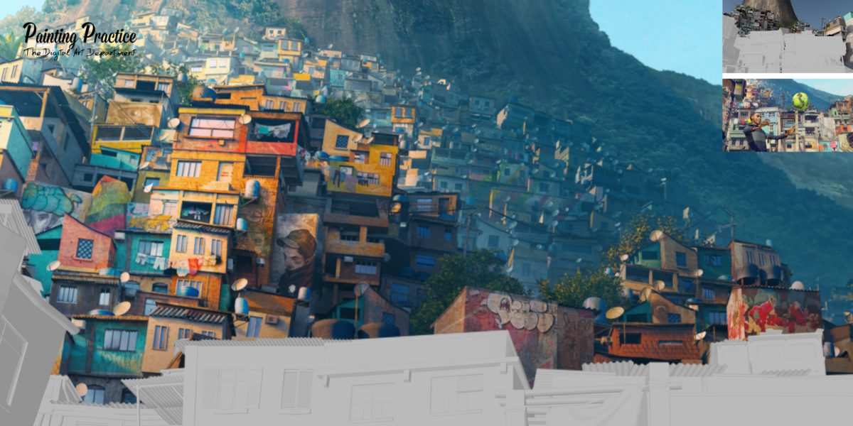 Building the Favela - 3D to Matte Painting
