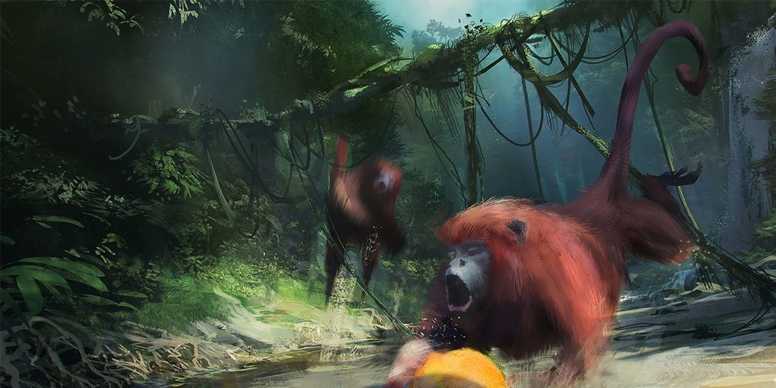 Concept - Howler Monkeys Volleyball