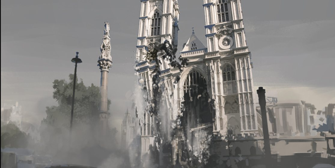 Westminster Abbey Destruction