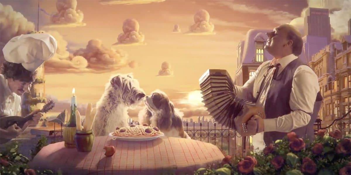 Still from the final ident - Lady and the Tramp