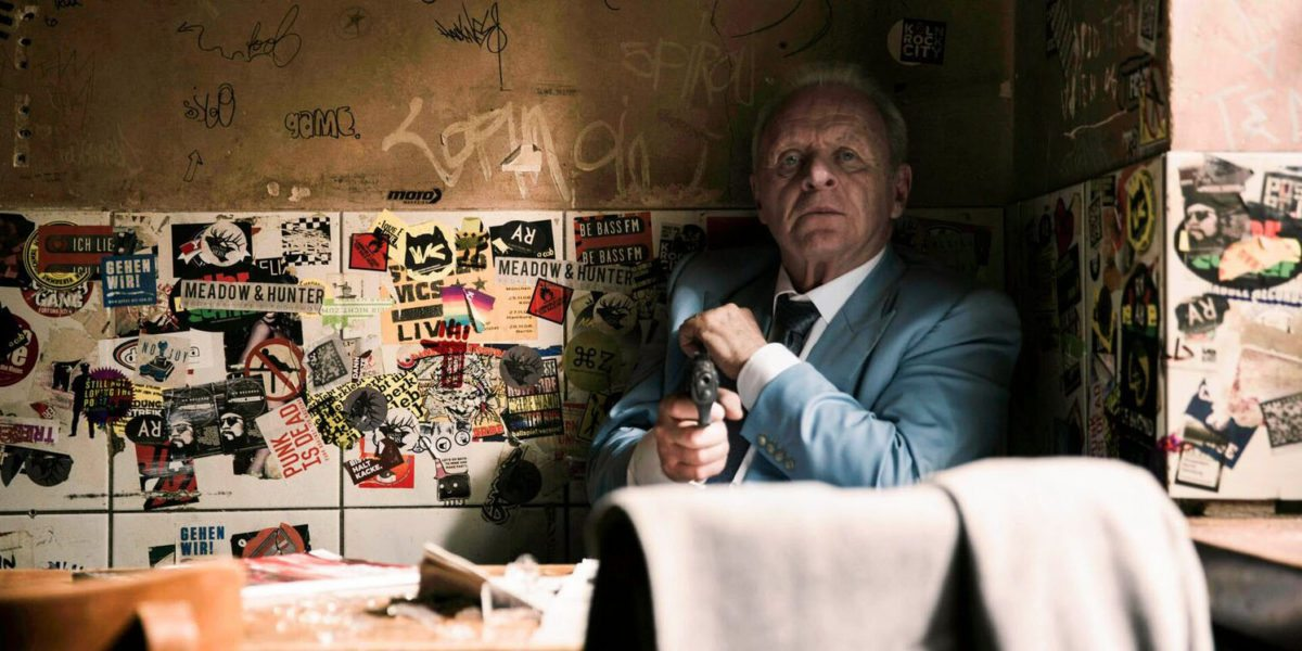 Still from film - Anthony Hopkins in the Bar