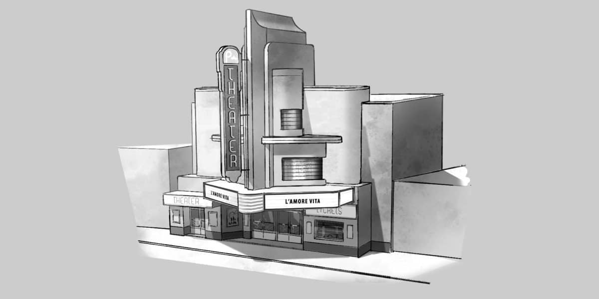 The Movie Theatre - Production Drawing