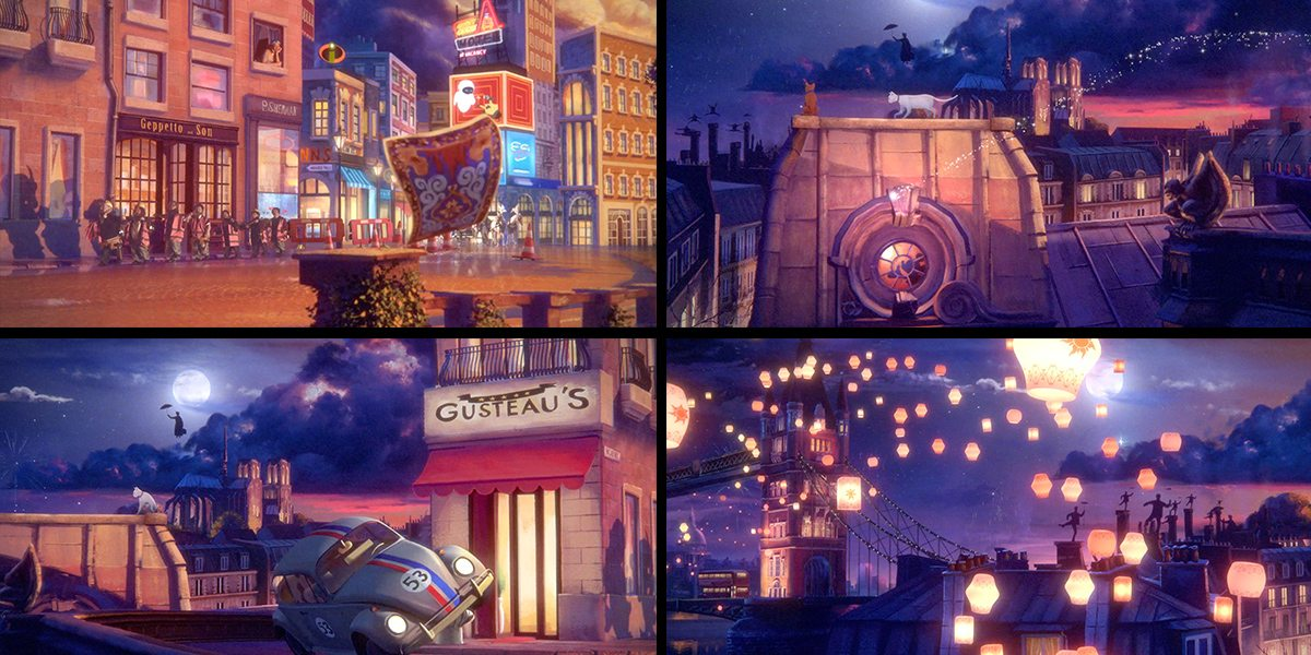 Compilation of stills from the final ident