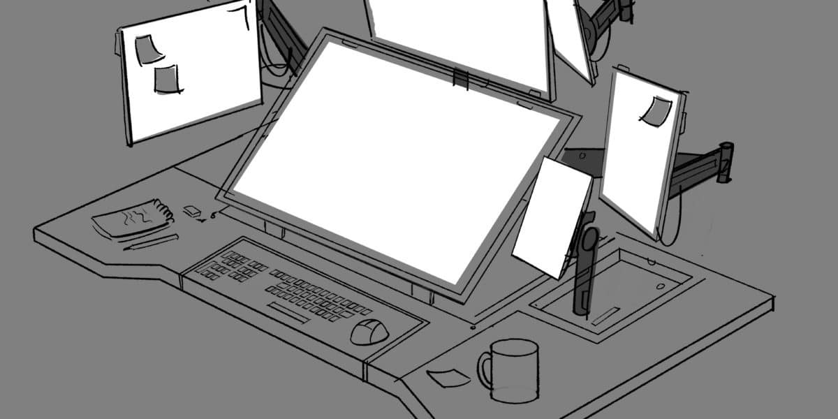 Pam's Computer - Production Drawing