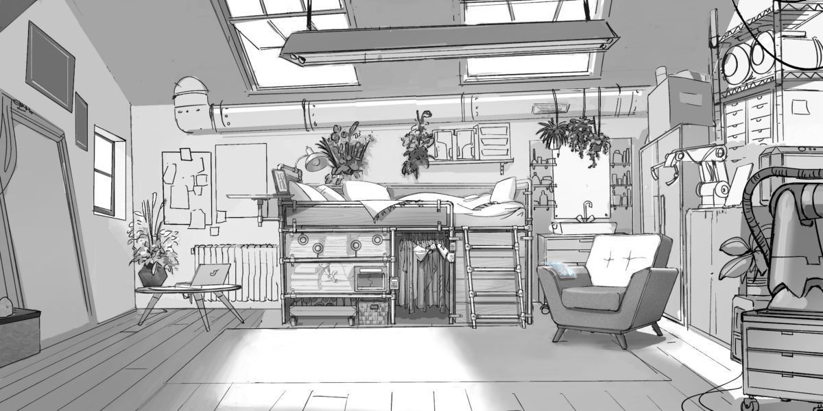 Pam's Bedroom - Production Drawing